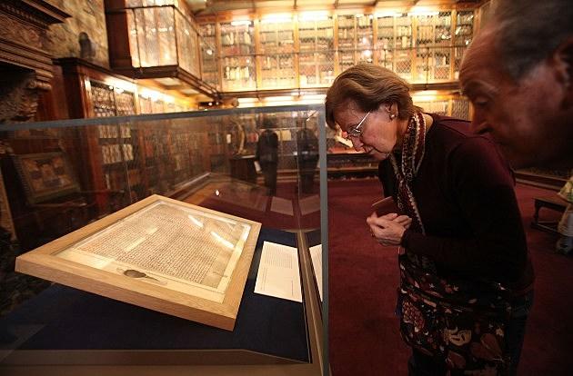 NY's Morgan Library Displays Magna Carta Original Stranded By Ash Cloud