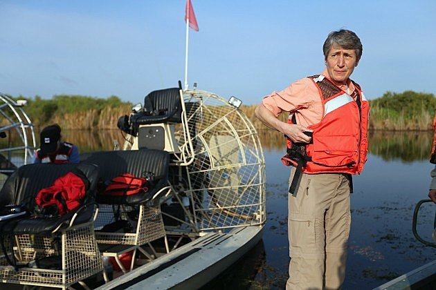 New Interior Secretary Sally Jewell Tours Florida Wildlife Refuge